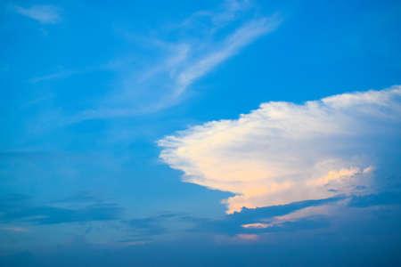 Blue sky with White clouds sunrise and sunset Reklamní fotografie