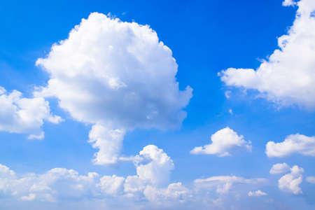 Blue Sky with White Clouds Zdjęcie Seryjne