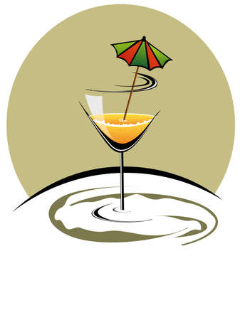 12 o'clock: cocktailglass with new year celebration 2012 Illustration