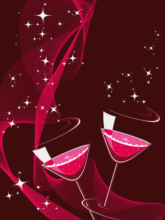 opening party: brillante estrella, fondo de onda con copa de c�ctel para la celebraci�n de a�o nuevo