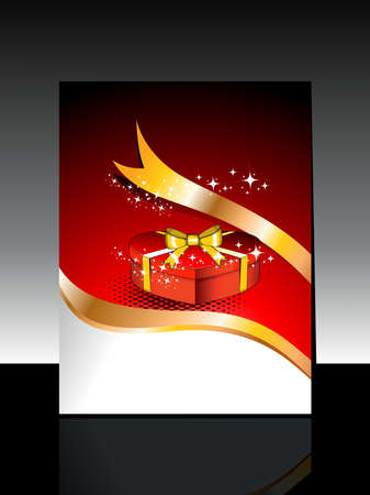 art work: abstract artistic art work concept with gift box on dotted background for happy new year