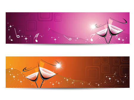 Concept banner for new year Vector