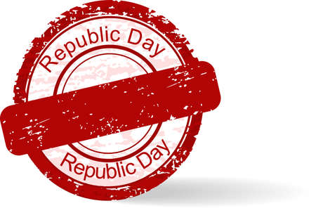Red grunge rubber stamp of Republic Day on white background for Republic Day. Stock Vector - 11785702