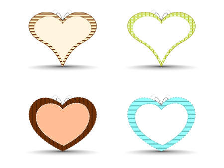 A set of abstract colorful heart shapes on isolated background for Valentines Day. Stock Vector - 11895134