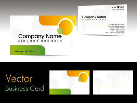 vector professional business card with presentation Vector