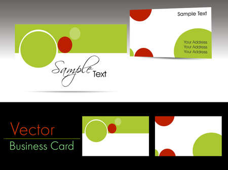 abstract elegant concept vector professional business cards Vector