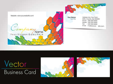set of colorful artwork concept business cards, vector illustration Vector