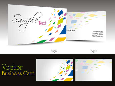 vector elegant design business card or visiting card with presentation Vector