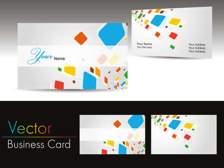 colorful artwork background vector professional visiting cards & business cards Vector