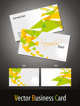 vector stylish concept business card on background with presentation Illustration