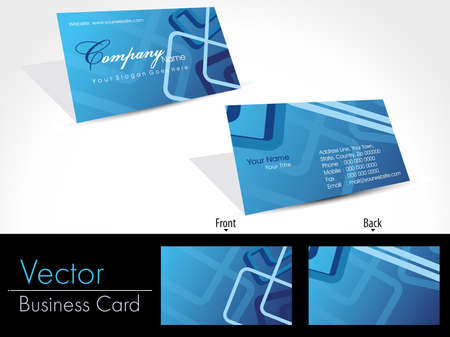 set of blue abstract design professional business cards Vector