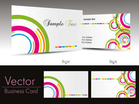 colorful circle design background business card with presentation