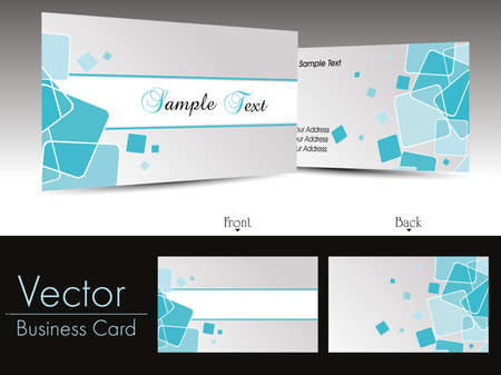 business card template: Abstract modern artwork background Corporate Business Card