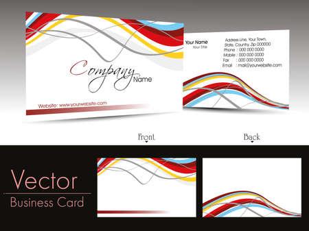 carta identit�: vettore creative elemento di design biglietti da visita aziendali