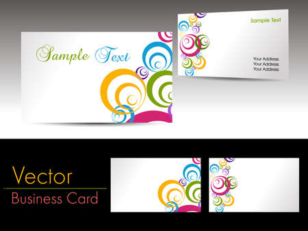 colorful circle theme background elegant corporate business cards