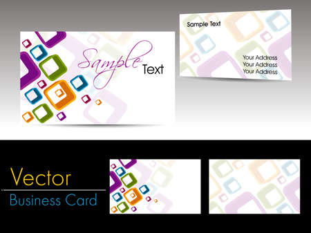 two companies: modern artwork background business card for professionals