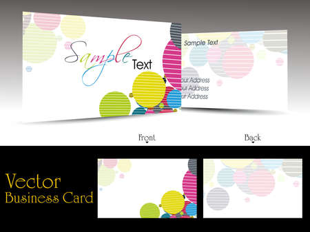 vector elegant colorful artistic design business cards with presentation Vector
