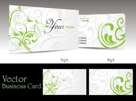 vector set of elegant floral pattern business cards or gift cards Vector