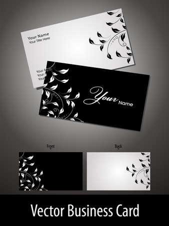 tarjeta de presentacion: Tarjetas de Vector de negocios o tarjeta de regalo con un dise�o floral elegante Vectores