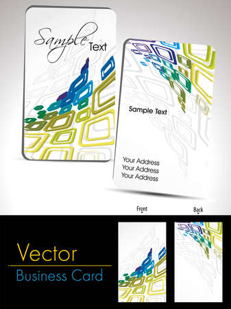 vector vertical business card with abstract pattern background Vector