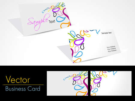 colorful creative design vector corporate business cards Stock Vector - 11895139