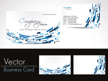 abstarct design business cards, vector Illustration