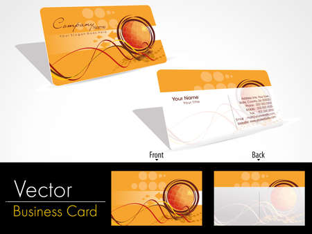 business card template: artistic design vector corporate business card set with presentation