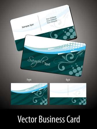 visitekaartje: abstracte groene creatieve florale thema achtergrond vector gift card
