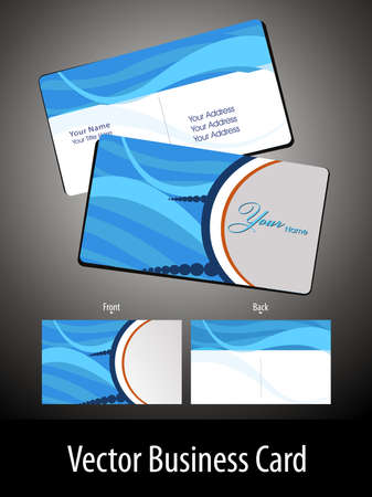 abstract blue wave theme background corporate sector business card Vector