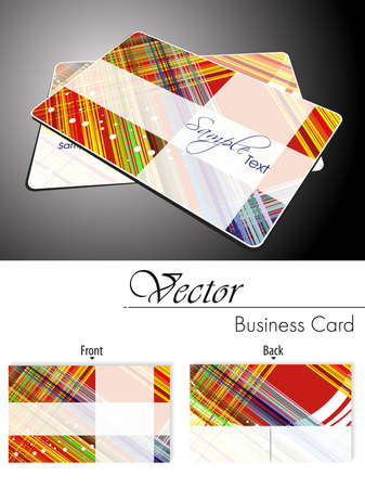 abstract colorfull lines background business card with presentation Vector