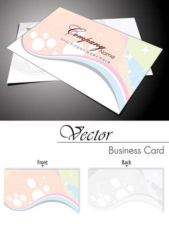 abstract light colorfull wave, star  theme business card Stock Vector - 11988560