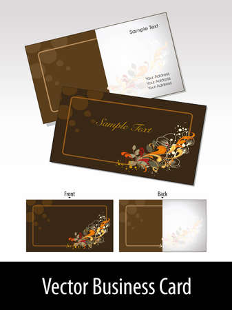 beautifull: mustard color background with beautifull floral  gift card Illustration