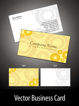 abstract yellow background  professional business card  for technical area Vector