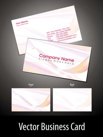 doted: abstract pink wave, doted theme business card