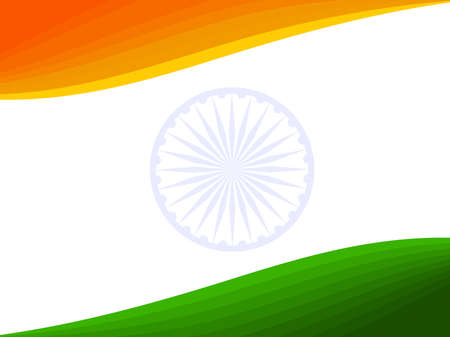 illustration of an Indian National Flag for Republic Day and Independence Day. Vector