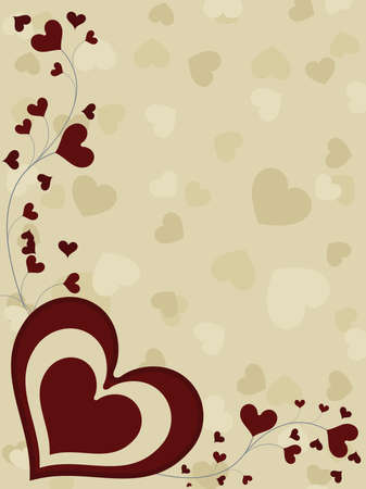 corazones: A card of valentine