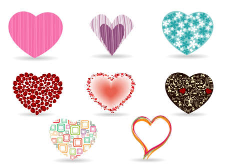 seduction: A set of diffrent style heart shape for Valentines Day.