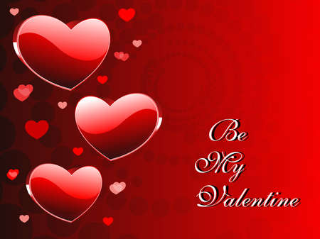 romantic red heart theme vector for valentine day Illustration