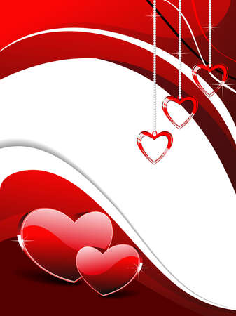 abstract romantic background with hanging heart Vector