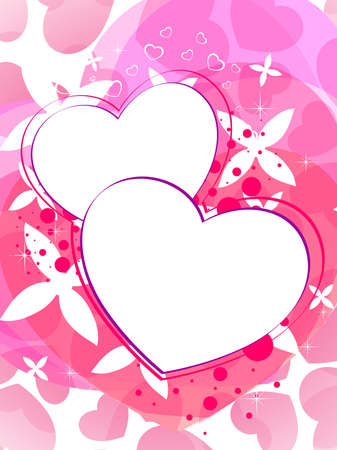 abstract heart shape concept background for Valentines day Vector