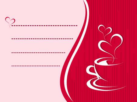 coffee invitaion card vector Stock Vector - 12015014