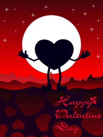 corazones: vector happy valentine