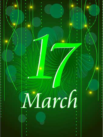 Vector illustration of shamrocks for St. Patrick's Day. Stock Vector - 12487856