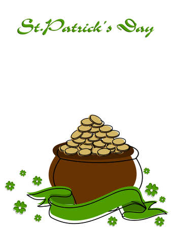 A beautiful greeting  card with space for your text  on St. Patricks Day Background. Vector