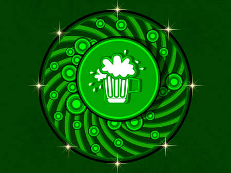 Beautiful illustration with beer mug for st. patrick s day and any other occasion. vector Vector