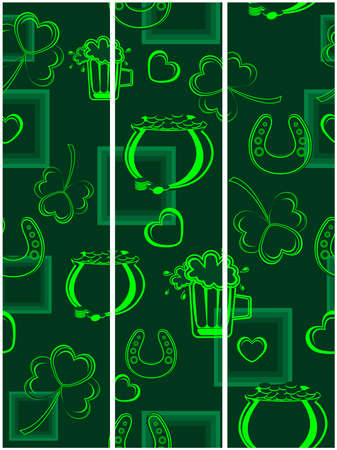 vector illustration of a  seamless background or tags for st. patrick Vector