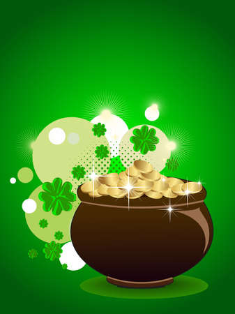 vector illustration of abstract St. Patrick Vector