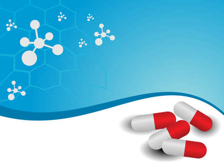 capsules: vector molecule medical background with capsules
