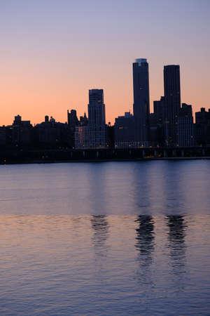Beautiful view of sunrise near city