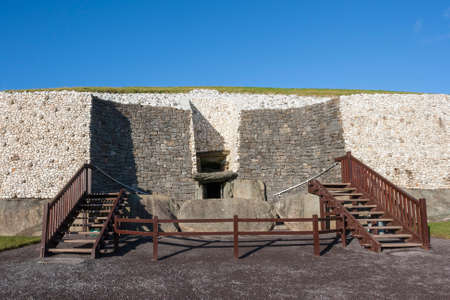 county meath: This building is heritage site. New grange is over 5000 years old. Located in County Meath, Ireland, its the most famous of Irish prehistoric sites.